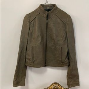 COLE HAAN LEATHER SHORT JACKET XS